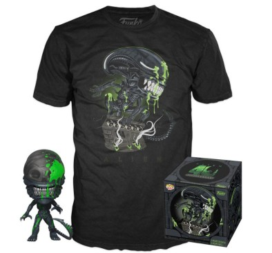 Alien POP! & Tee Box 40th Xenomorph heo Exclusive (S, M, L, XL)