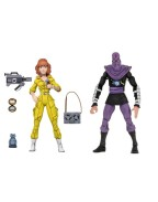 April O'Neil and Foot Action Figure 2-Pack TMNT Cartoon Version (S3)