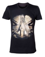 Assassin's Creed Syndicate - Gold Flag Crest Men T-shirt - Black