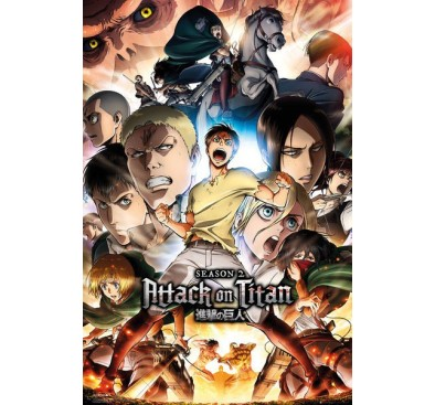 Attack on Titan Season 2 Poster Pack Collage Key Art 61 x 91 cm
