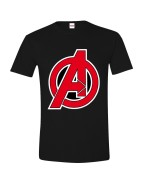 Avengers - A-Logo Men T-shirt - Black, Size L, XL