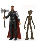 Avengers Infinity War Marvel Select Action Figures Thor & Groot 18 cm