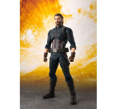 Avengers Infinity War S.H. Figuarts Action Figure Captain America & Tamashii Effect Explosion 16 cm
