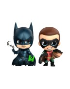 Batman Forever Cosbaby Mini Figure 2-Pack Batman & Robin 11 cm