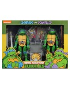 Leonardo and Donatello Action Figure 2 Pack TMNT Cartoon Version (S2)