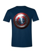 Captain America: Civil War - Captain America Shield Men T-Shirt - Navy, Size M