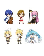 Character Vocal Series 01: Hatsune Miku Nendoroid Plus Keychain 6-Pack Band together 01