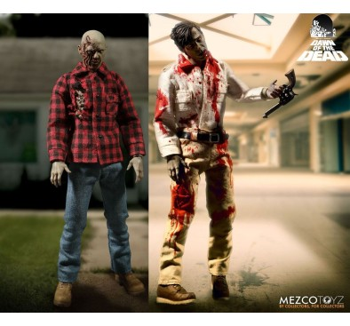 Dawn Of The Dead Action Figure 1/12 2-Pack Flyboy & Plaid Shirt Zombie 17 cm