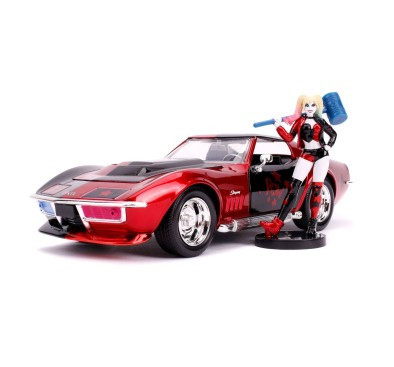 DC Comics Diecast Model 1/24 1969 Chevy Corvette Stingray with Figure