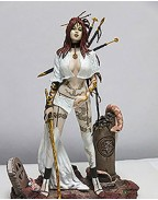 Fantasy Figure Gallery Resin Statue 1/4 Medusa´s Gaze (Luis Royo) Web Exclusive White Ver. 49 cm