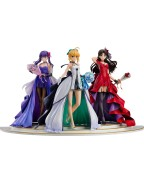 Fate/Stay Night PVC Statues 1/7 Saber, Rin Tohsaka and Sakura Matou 15th Celebration Dress Ver.
