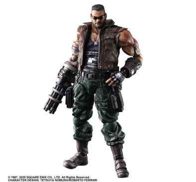 Final Fantasy VII Remake Play Arts Kai Action Figure Barret Wallace Ver. 2 28 cm