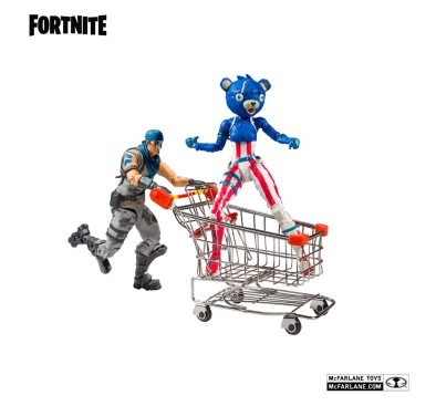 Fortnite Action Figures Shopping Cart Pack War Paint & Fireworks Team Leader 18 cm