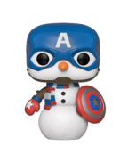 Funko POP! Marvel Holiday - Capt America Vinyl Figure 10cm