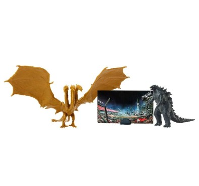 Godzilla King of the Monsters Matchups Figurina King Ghidorah & Godzilla 9 cm