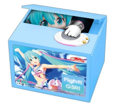 Hatsune Miku GT Project PVC Talking Coin Bank Racing Miku 2019 Ver. Chatting Bank 002 12 cm