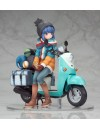 Laid-Back Camp PVC Statue 1/10 Rin Shima with Scooter 15 cm