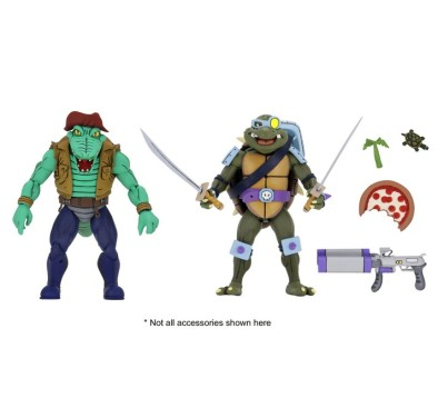 Leather Head and Slash Action Figure 2-Pack TMNT Cartoon Version (S3)