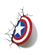 Marvel 3D LED Light Captain America Shield