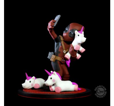 Marvel Q-Fig Diorama Deadpool Unicornselfie 10 cm