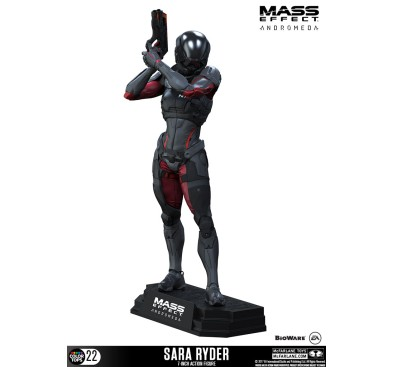 Mass Effect Andromeda Color Tops Action Figure Sara Ryder 18 cm