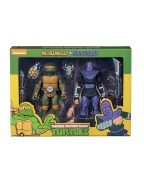 Michelangelo vs Foot Action Figure 2-Pack TMNT Cartoon Version