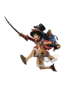 One Piece Three Brothers PVC Statue Monkey D. Luffy 11 cm