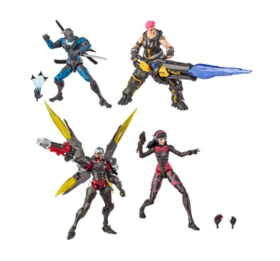 Overwatch Ultimates Action Figures 4-Pack Carbon Fiber 15 cm
