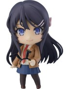 Rascal Does Not Dream of Bunny Girl Senpai Nendoroid Action Figure Mai Sakurajima 10 cm