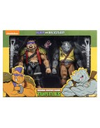 Rocksteady and Bebop Action Figure 2 Pack TMNT Cartoon Version (S2)