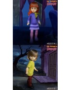 Scooby-Doo & Mystery Inc Build A Figure Living Dead Dolls 25 cm Daphne & Shaggy (set 2 figurine)
