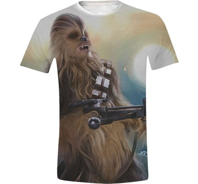 Star Wars - Chewie Full Printed Men T-Shirt - White, Size: S, L, XL