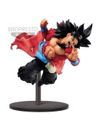 Super Dragon Ball Heroes PVC Statue Super Saiyan 4 Son Goku Xeno 9th Anniversary 14 cm