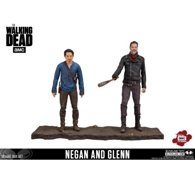 The Walking Dead TV Version Action Figure 2-pack Negan & Glenn 13 cm